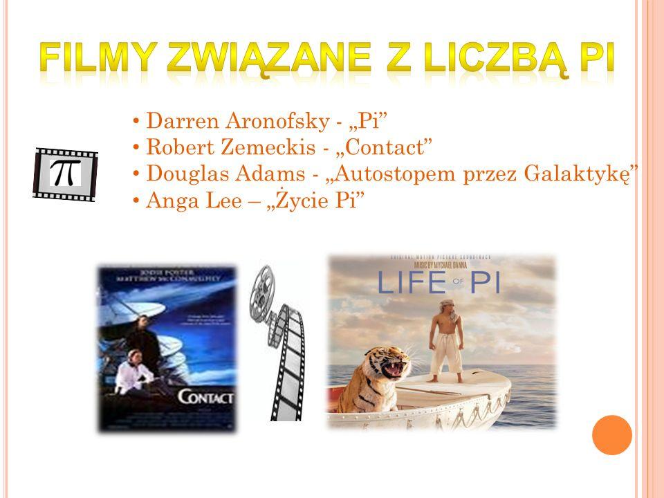 Darren Aronofsky - Pi Robert Zemeckis - Contact Douglas Adams - Autostopem przez Galaktykę Anga Lee – Życie Pi