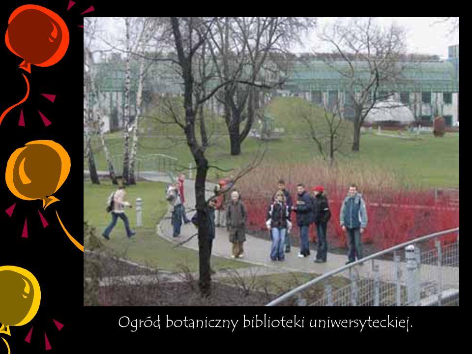 Ogród botaniczny biblioteki uniwersyteckiej.