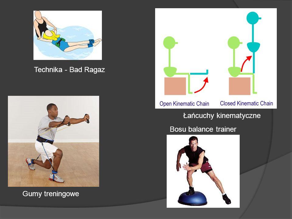 Bosu balance trainer Technika - Bad Ragaz Gumy treningowe Łańcuchy kinematyczne