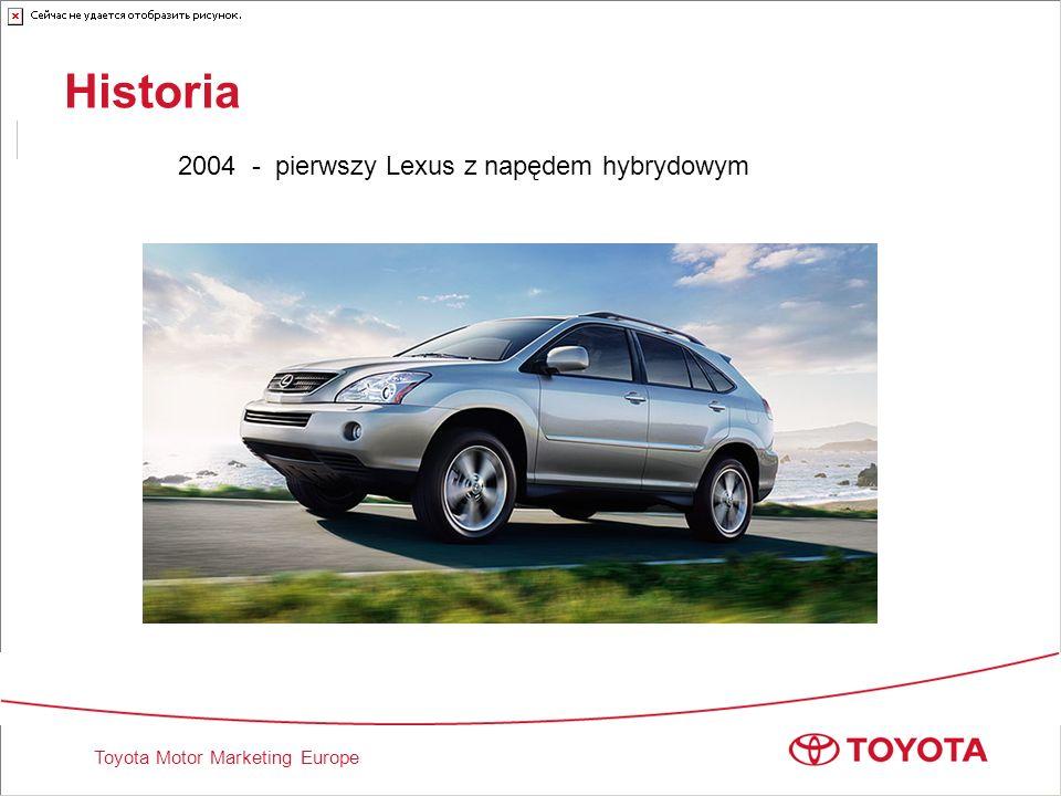 Toyota Motor Marketing Europe Historia 2004 - pierwszy Lexus z napędem hybrydowym