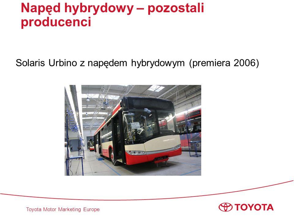 Toyota Motor Marketing Europe Napęd hybrydowy – pozostali producenci Solaris Urbino z napędem hybrydowym (premiera 2006)