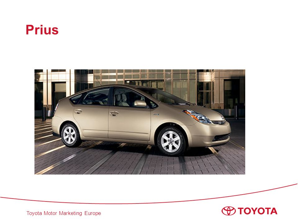 Toyota Motor Marketing Europe Prius