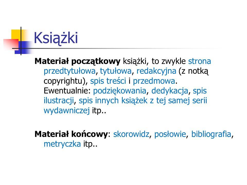 Książki Klasa dokumentu: book.(Jest podobna do klasy report.