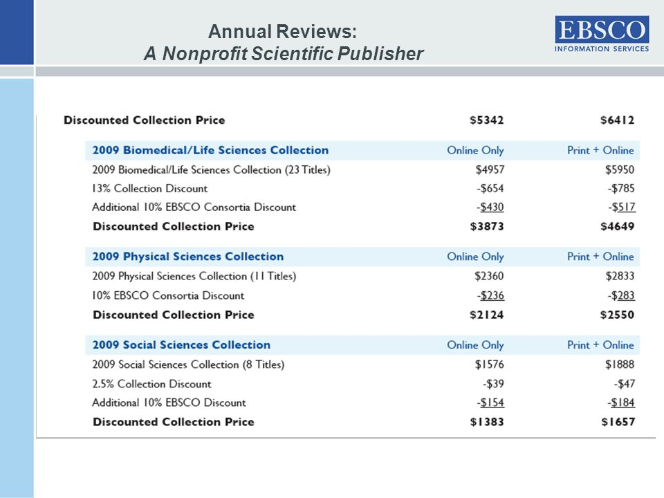 Annual Reviews: A Nonprofit Scientific Publisher