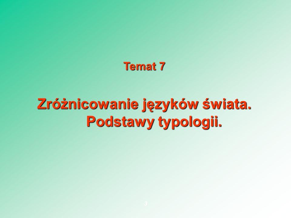 Typologia Założenie: wszystkie JN są strukturalnie podobne (Milewski: paralelne).