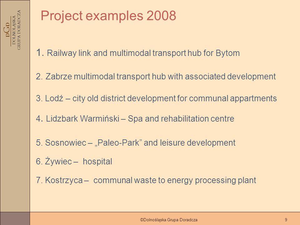 D G D DOLNOLĄSKA GRUPA DORADCZA ©Dolnośląska Grupa Doradcza9 Project examples 2008 3.