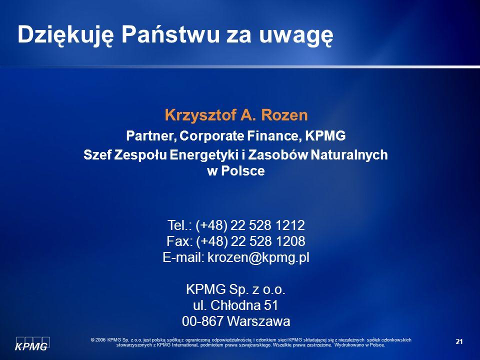 20 © 2006 KPMG Sp. z o.o.