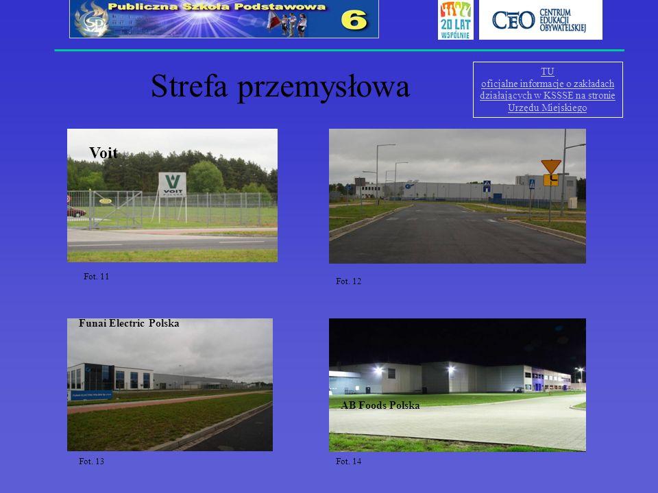 TU oficjalne informacje o zakładach działających w KSSSE na stronie Urzędu Miejskiego Strefa przemysłowa Voit Fot. 11 Nord Napędy sp. z o.o Funai Elec