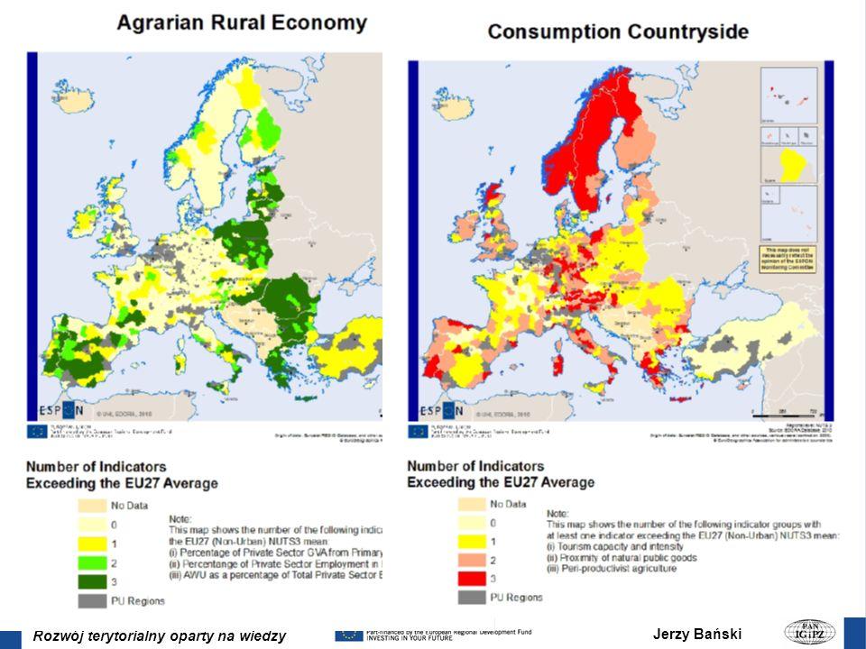Jerzy Bański Rozwój terytorialny oparty na wiedzy EDORA (European Development Opportunities in Rural Areas) Typologie: