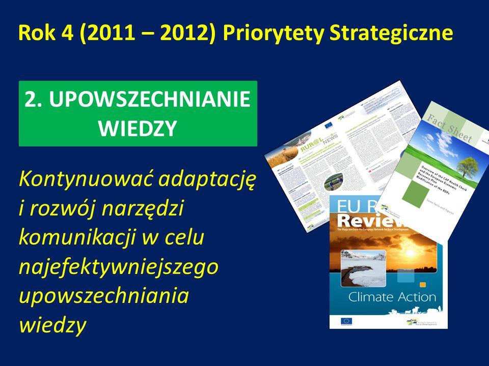 Rok 4 (2011 – 2012) Priorytety Strategiczne 2.