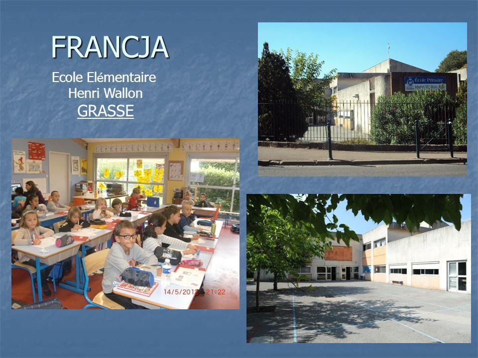 FRANCJA Ecole El é mentaire Henri Wallon GRASSE