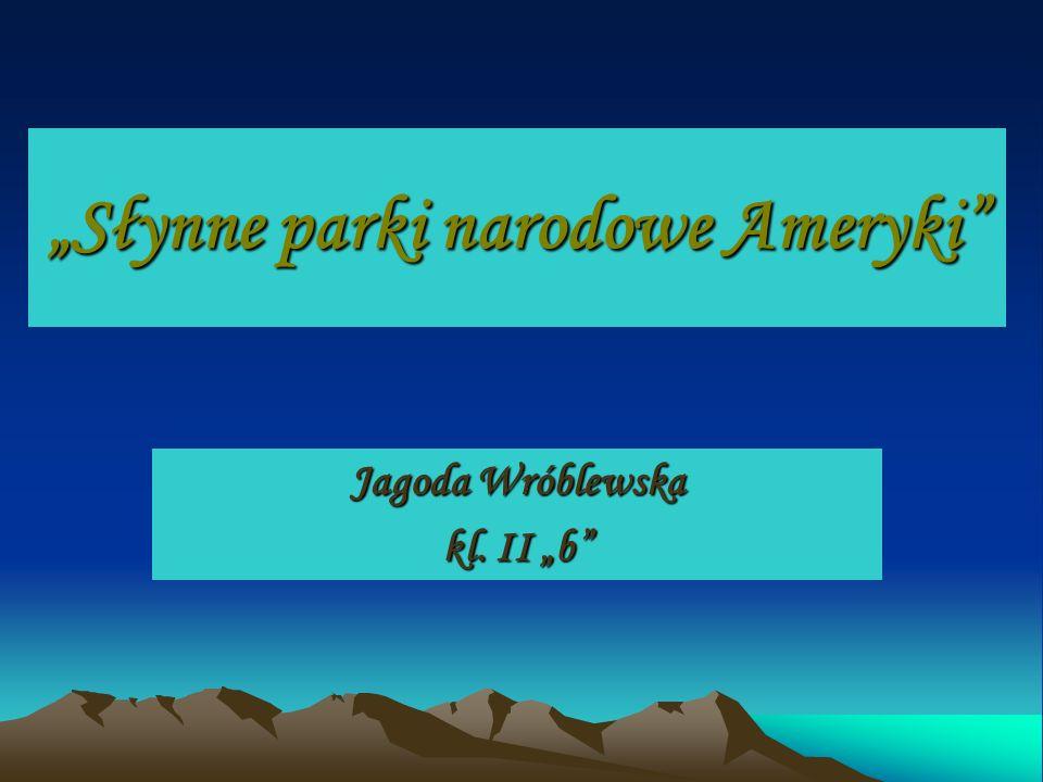 Słynne parki narodowe Ameryki Jagoda Wróblewska kl. II b