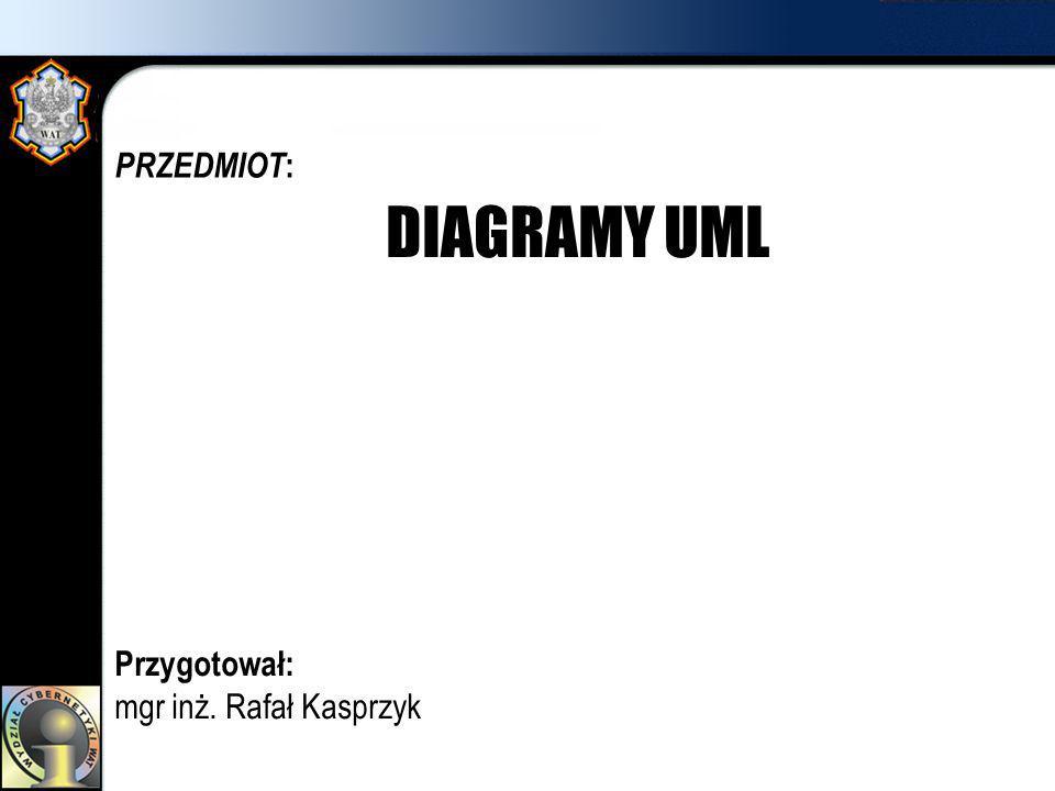 PRZEDMIOT :: Przygotował: mgr inż. Rafał Kasprzyk DIAGRAMY UML