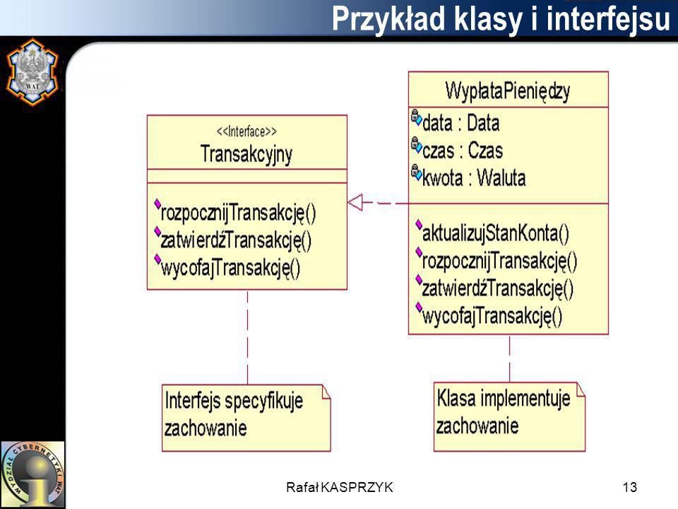 Rafał KASPRZYK13 Przykład klasy i interfejsu