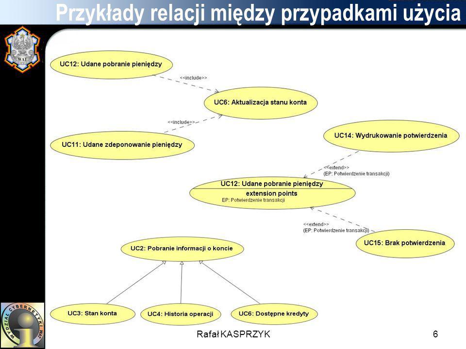 Rafał KASPRZYK6 Przykłady relacji między przypadkami użycia