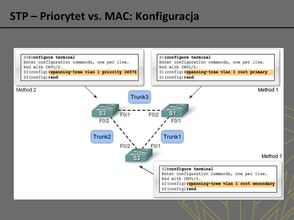 STP – Priorytet vs. MAC: Konfiguracja