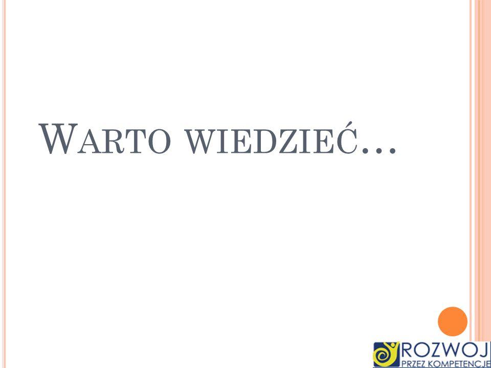 W ARTO WIEDZIEĆ Kaloria (ang.