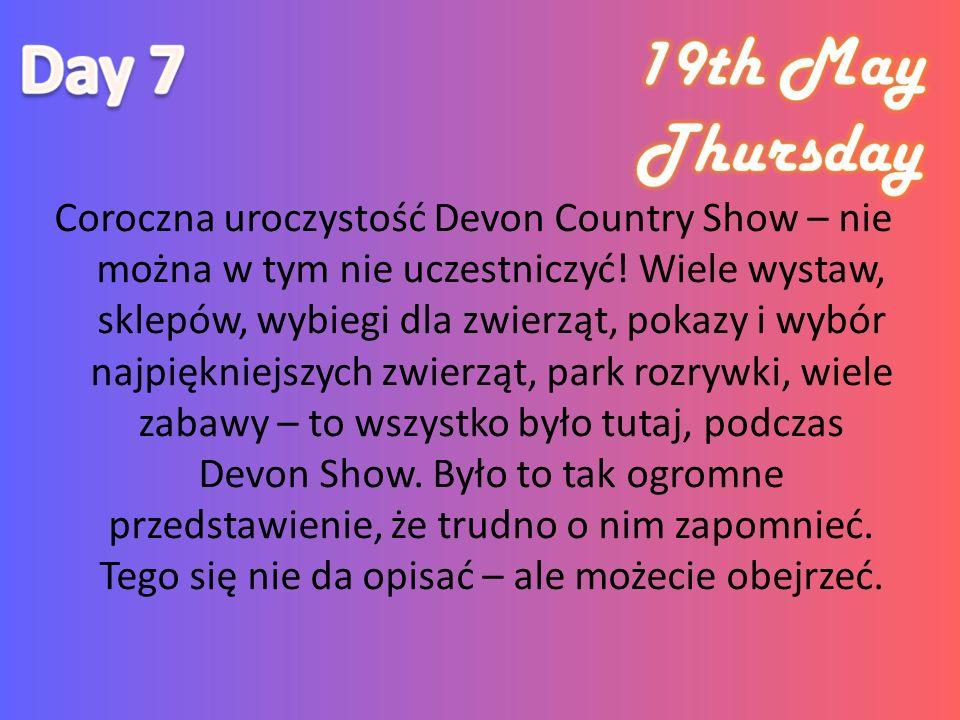 Coroczna uroczystość Devon Country Show – nie można w tym nie uczestniczyć.