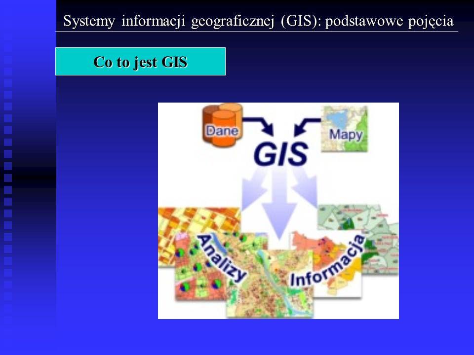 Systemy informacji geograficznej (GIS): podstawowe pojęcia W bogatej, szczególnie angielskojęzycznej literaturze dotyczącej GIS spotyka się wiele terminów, które uznać można za synonimy systemów informacji geograficznej.