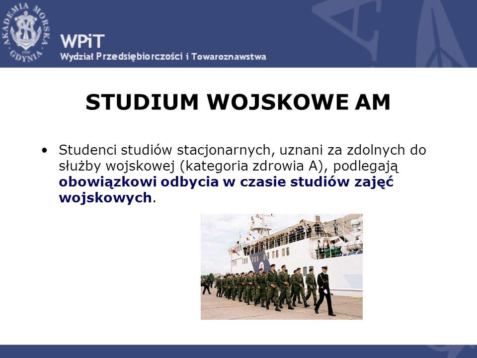Studenci studiów stacjonarnych, uznani za zdolnych do służby wojskowej (kategoria zdrowia A), podlegają obowiązkowi odbycia w czasie studiów zajęć woj