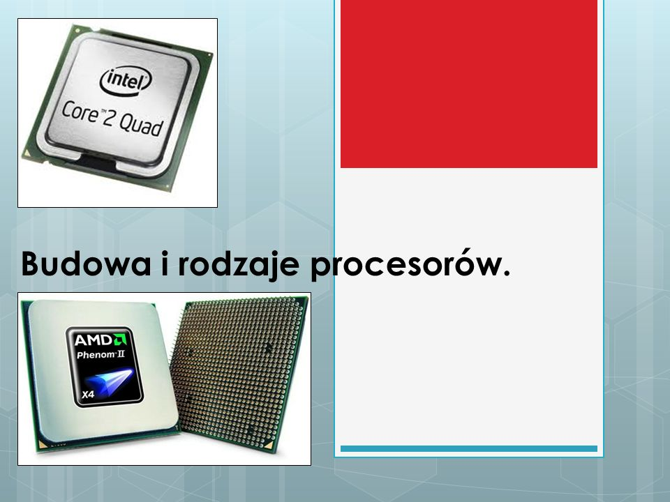 Definicja Mikroprocesor (potocznie procesor), czyli CPU (Central Proccessing Unit-centralna jednostka obliczeniowa).Odpowiedzialny jest za wykonywanie większości obliczeń systemowych i operacji przetwarzania danych.