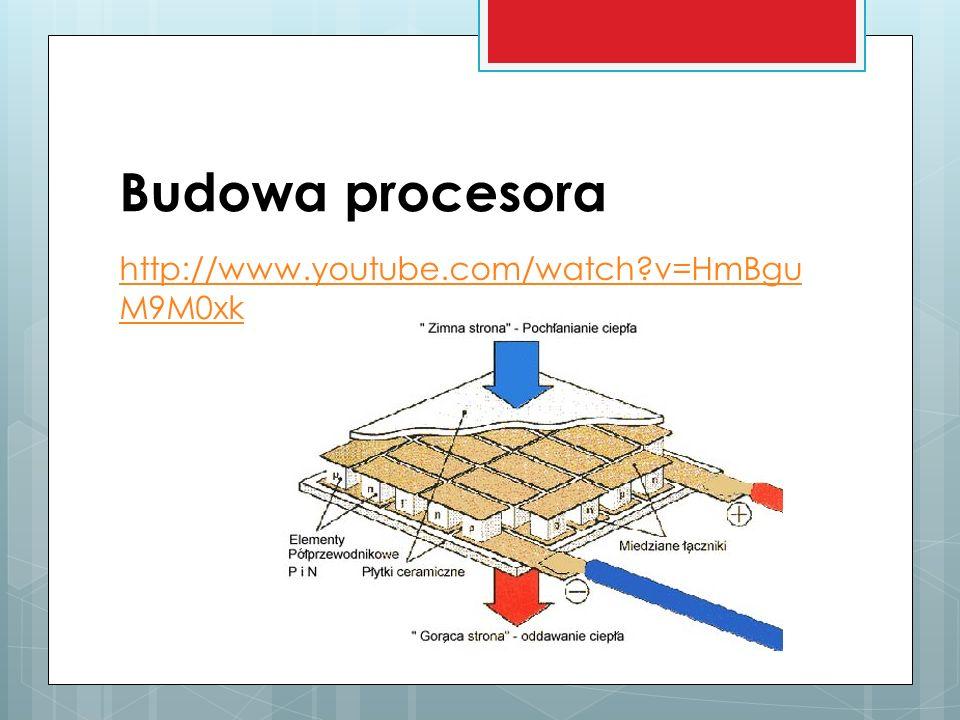 Budowa procesora http://www.youtube.com/watch?v=HmBgu M9M0xk