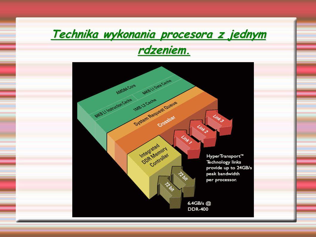 Technika wykonania procesora z jednym rdzeniem.