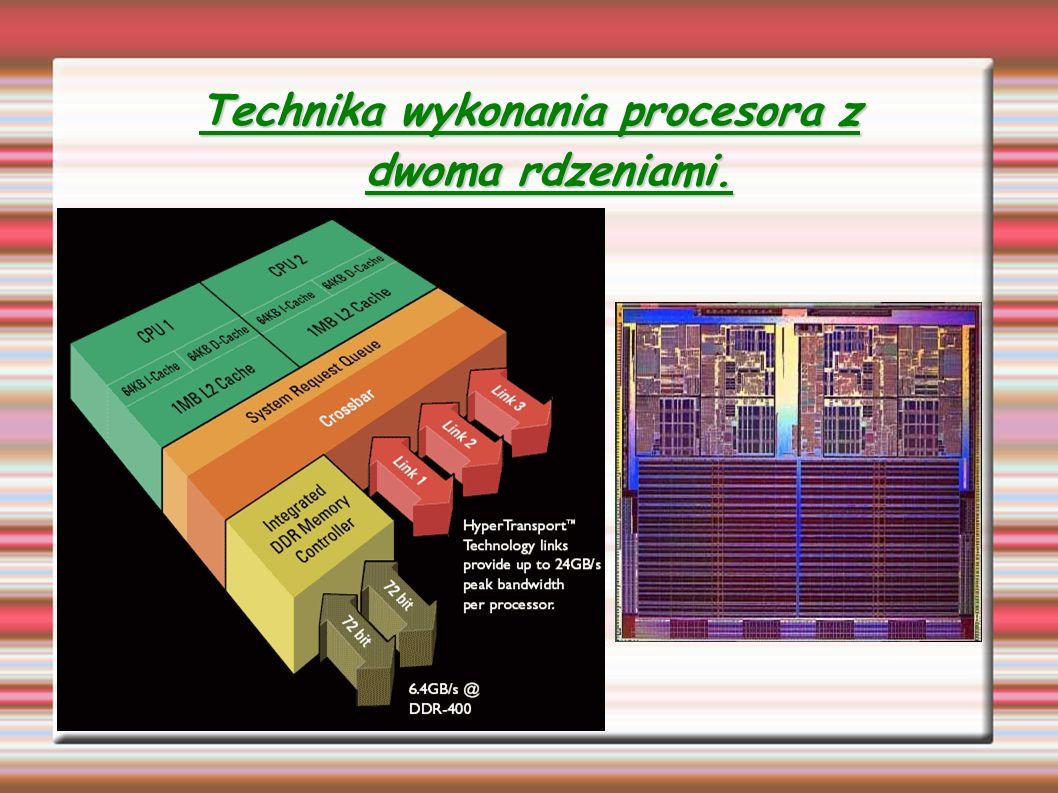 Technika wykonania procesora z dwoma rdzeniami.