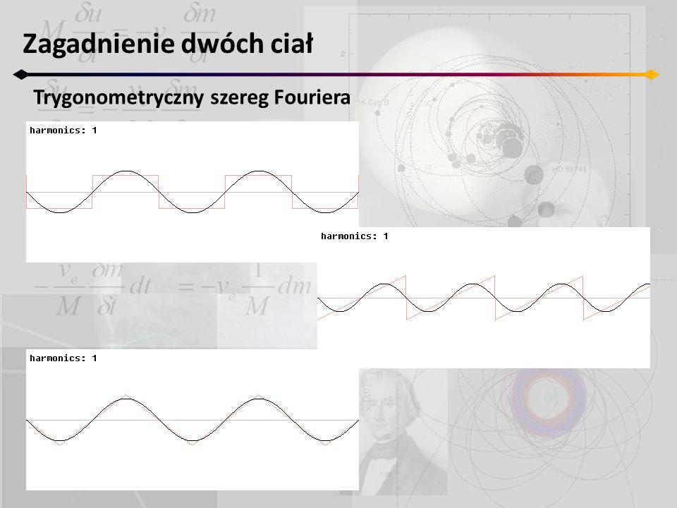 Zagadnienie dwóch ciał Trygonometryczny szereg Fouriera