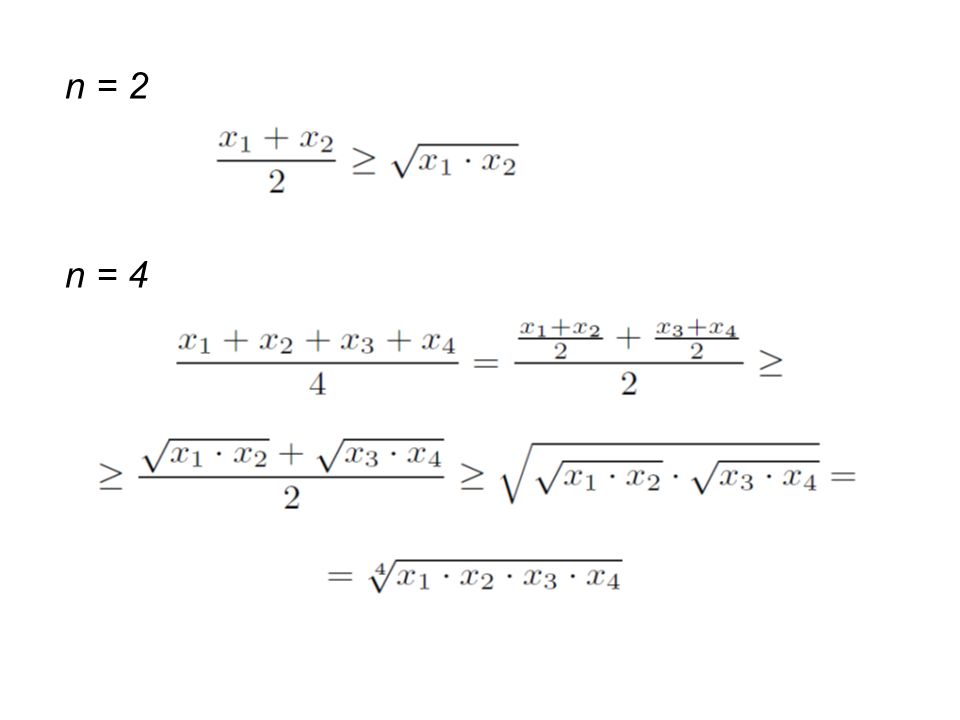 n = 2 n = 4