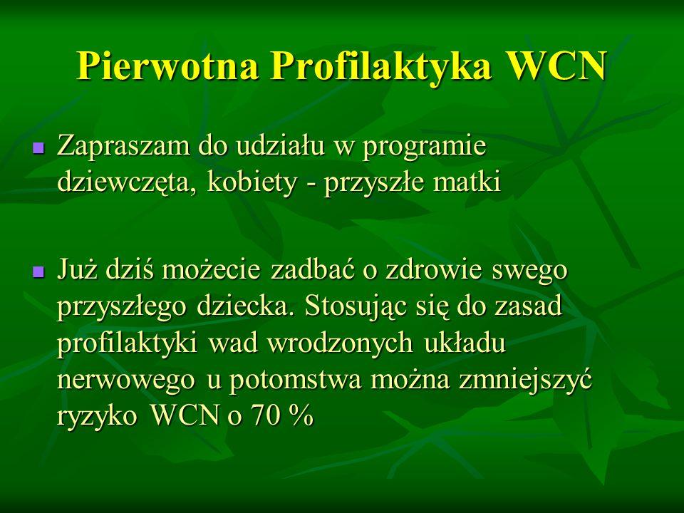 Pierwotna Profilaktyka WCN Zapraszam do udziału w programie dziewczęta, kobiety - przyszłe matki Zapraszam do udziału w programie dziewczęta, kobiety - przyszłe matki Już dziś możecie zadbać o zdrowie swego przyszłego dziecka.