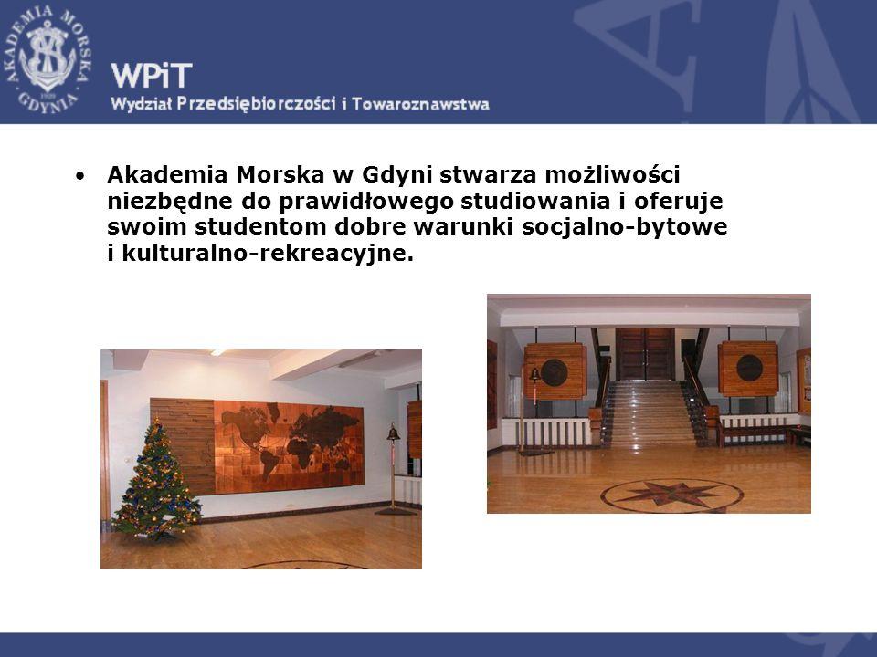 Akademia Morska w Gdyni stwarza możliwości niezbędne do prawidłowego studiowania i oferuje swoim studentom dobre warunki socjalno-bytowe i kulturalno-