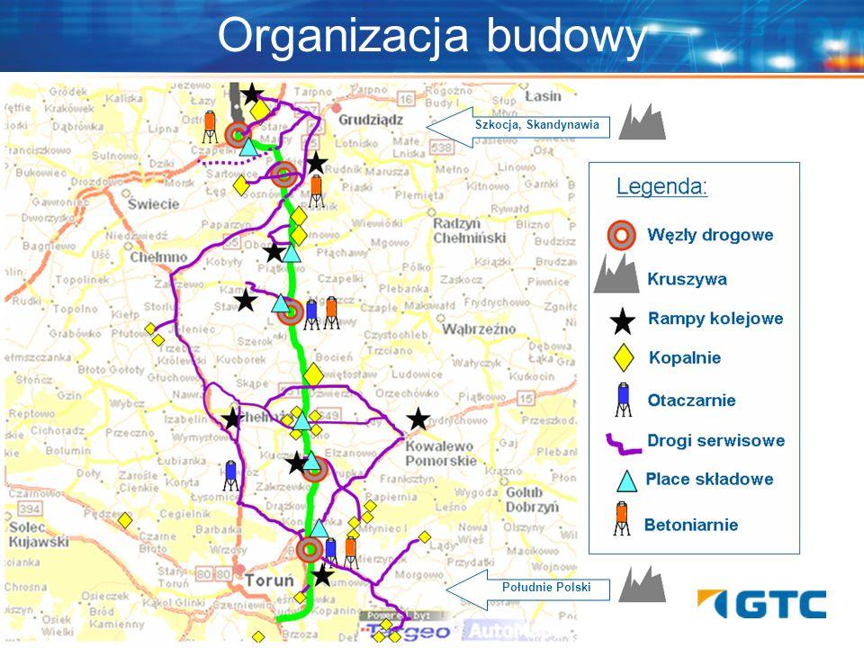 Organizacja budowy Południe Polski Szkocja, Skandynawia