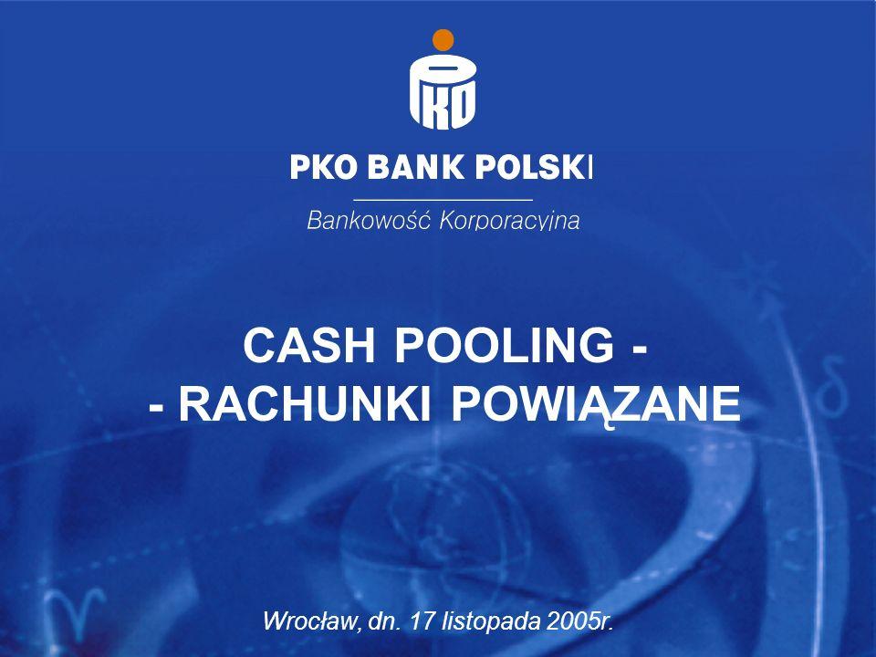 Wrocław, dn. 17 listopada 2005r. 10 CASH POOLING - - RACHUNKI POWIĄZANE Wrocław, dn. 17 listopada 2005r.