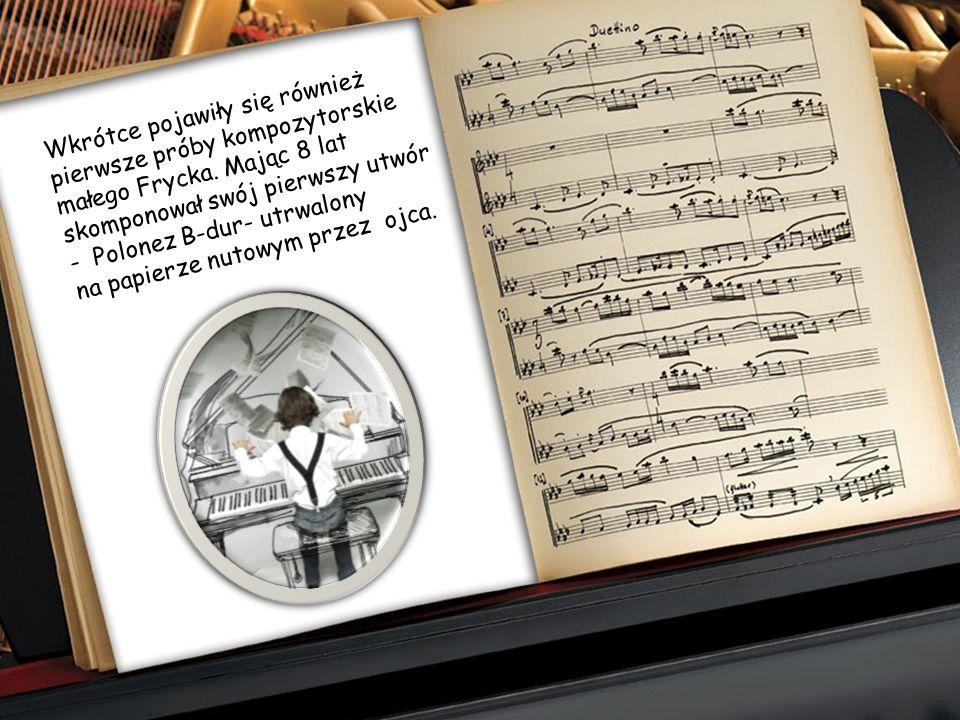 W wieku sześciu lat chłopiec rozpoczął naukę gry na fortepianie u Wojciecha Żywnego. Wspólnie ze starszą siostrą Ludwiką muzykowali w domu, grywając n