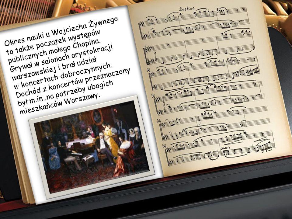 Wkrótce pojawiły się również pierwsze próby kompozytorskie małego Frycka. Mając 8 lat skomponował swój pierwszy utwór - Polonez B-dur- utrwalony na pa