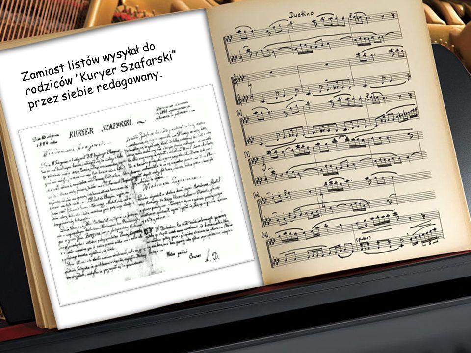 Fryderyk bardzo lubił słuchać wiejskiej muzyki, aby potem na jej temat improwizować na fortepianie. Wiele pomysłów na utwory muzyczne narodziło się po