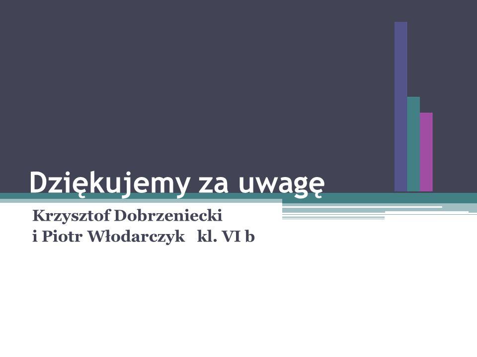 Dziękujemy za uwagę Krzysztof Dobrzeniecki i Piotr Włodarczyk kl. VI b