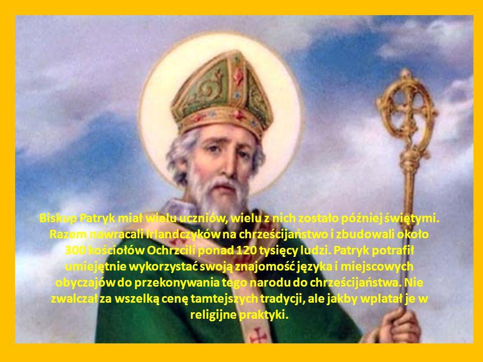 Patryk działalność misyjną w Irlandii prowadził przez 40 lat - uczynił wiele cudów, znalazł też czas na napisanie Wyznań, w których opisuje swoje poświęcone Bogu życie.