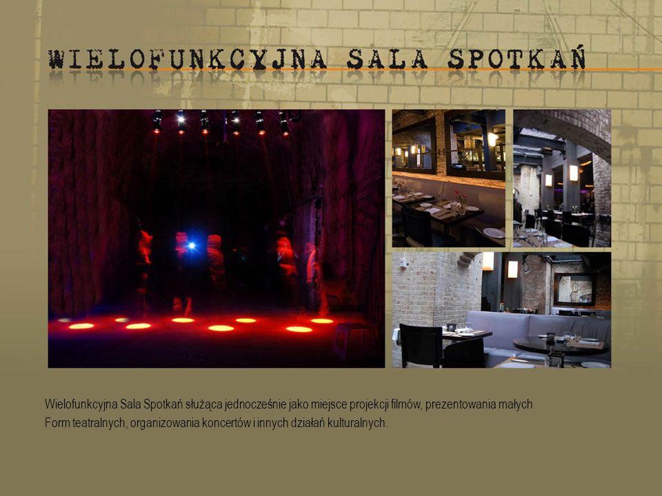 Wielofunkcyjna Sala Spotkań służąca jednocześnie jako miejsce projekcji filmów, prezentowania małych Form teatralnych, organizowania koncertów i innych działań kulturalnych.