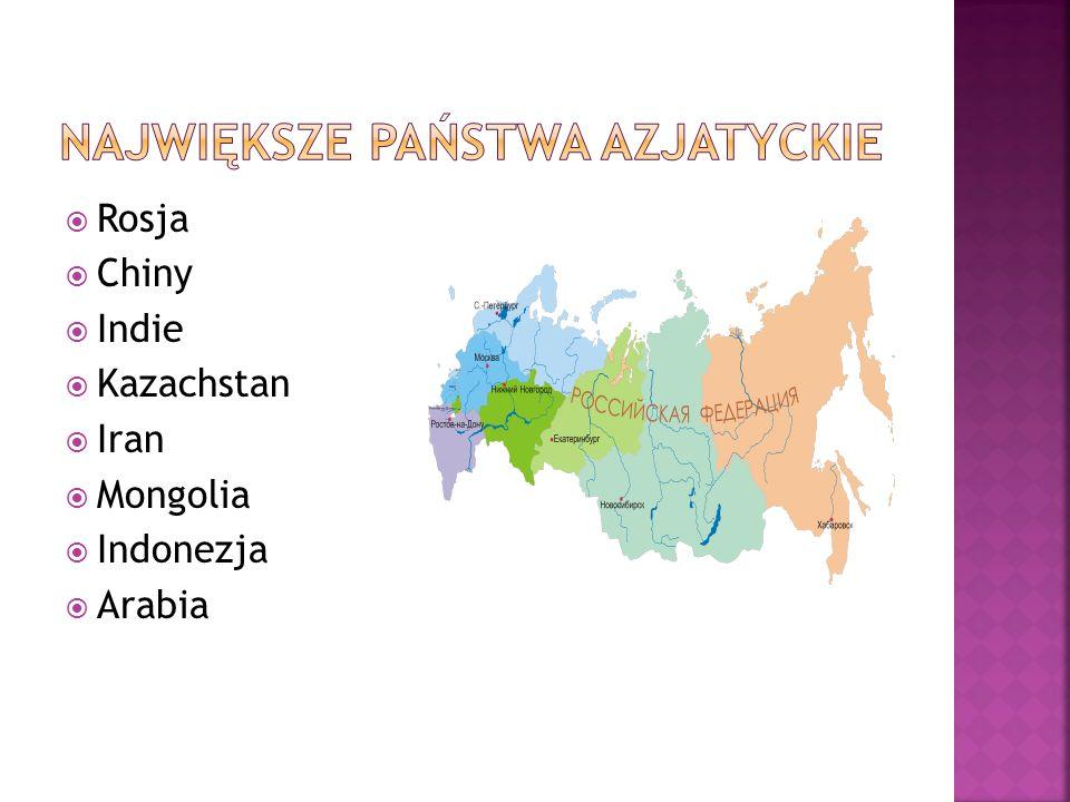 Rosja Chiny Indie Kazachstan Iran Mongolia Indonezja Arabia