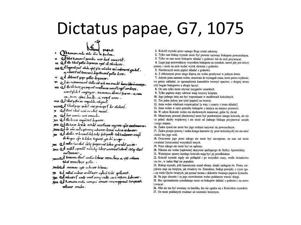 Dictatus papae, G7, 1075