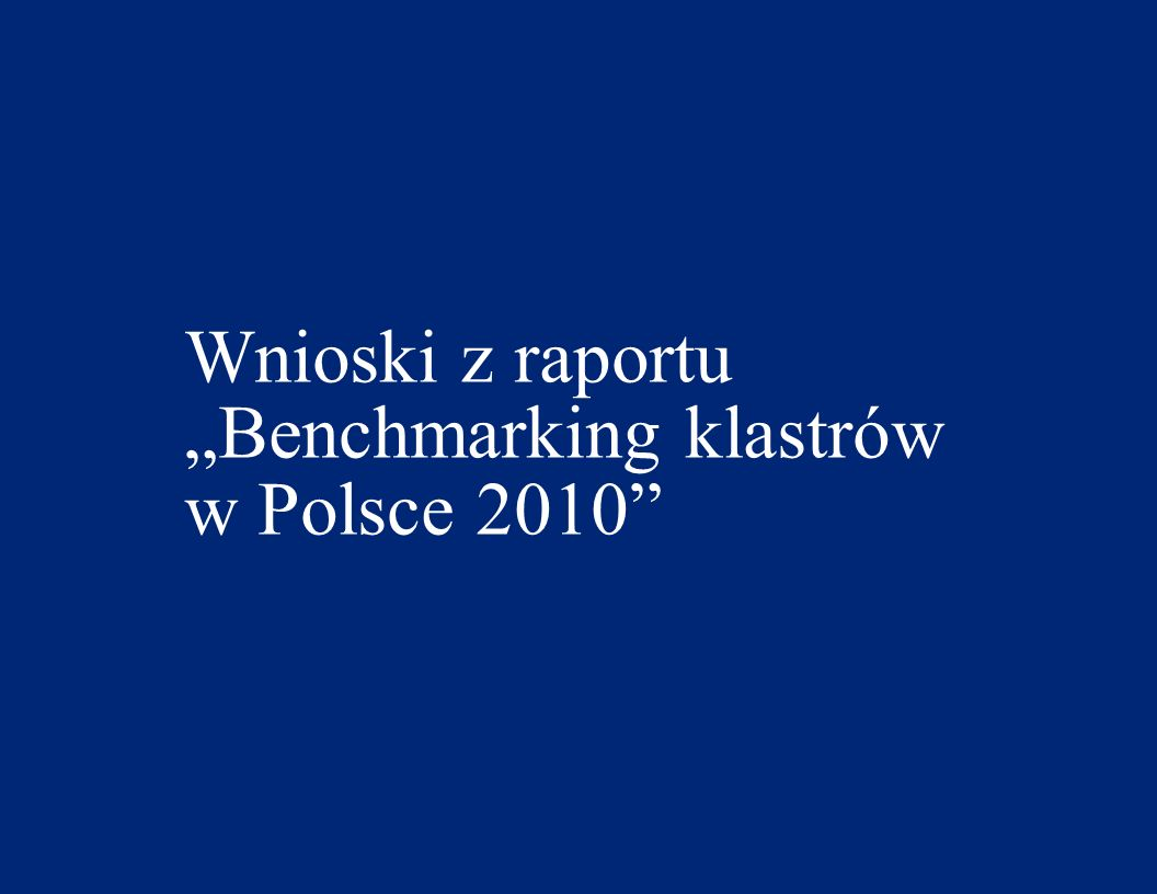 © 2011 Deloitte 4 Benchmarking klastrów 2010 - dane podstawowe (1) W badaniu wzięło udział 47 klastrów spośród 178 klastrów i inicjatyw klastrowych zidentyfikowanych przez PARP W badaniu wykorzystano metodę benchmarkingu Blisko połowa klastrów powstała w 2007r.