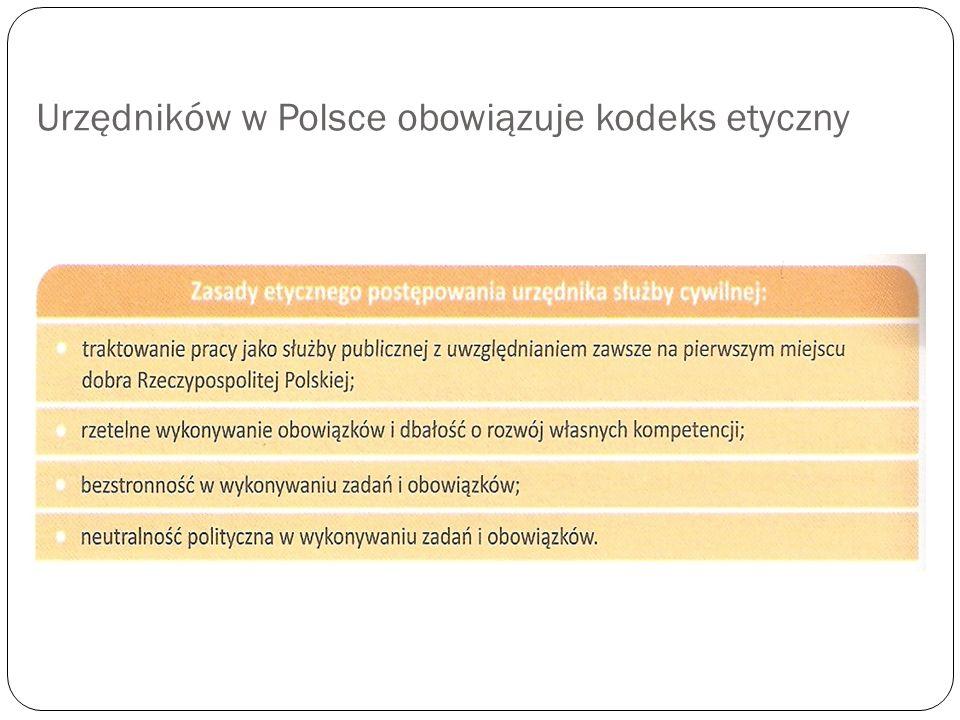 Urzędników w Polsce obowiązuje kodeks etyczny