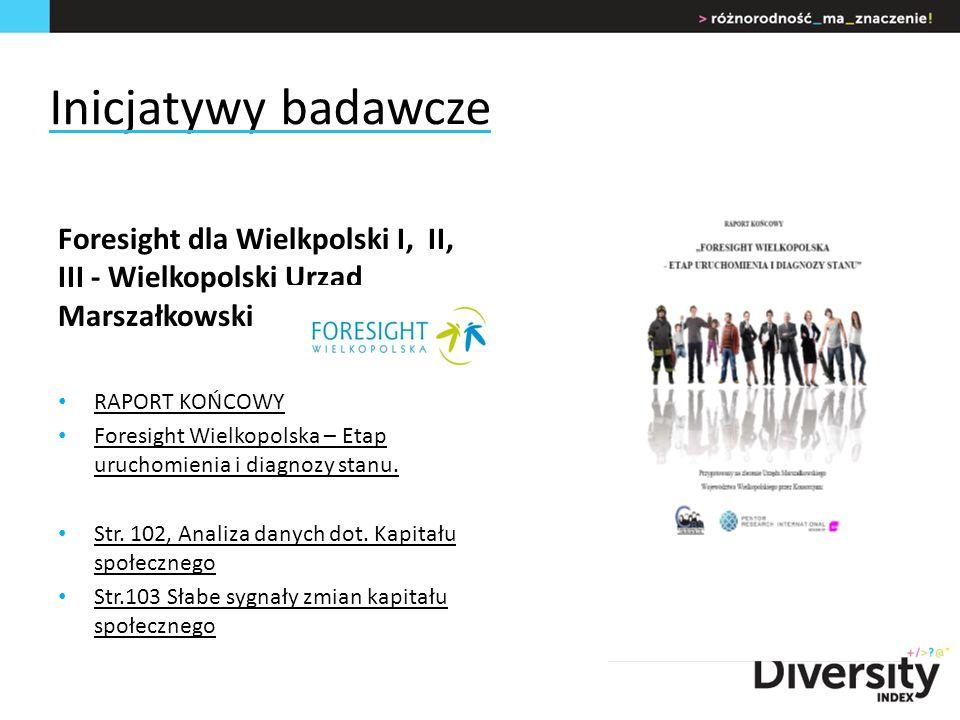 Inicjatywy badawcze Foresight dla Wielkpolski I, II, III - Wielkopolski Urząd Marszałkowski RAPORT KOŃCOWY Foresight Wielkopolska – Etap uruchomienia i diagnozy stanu.