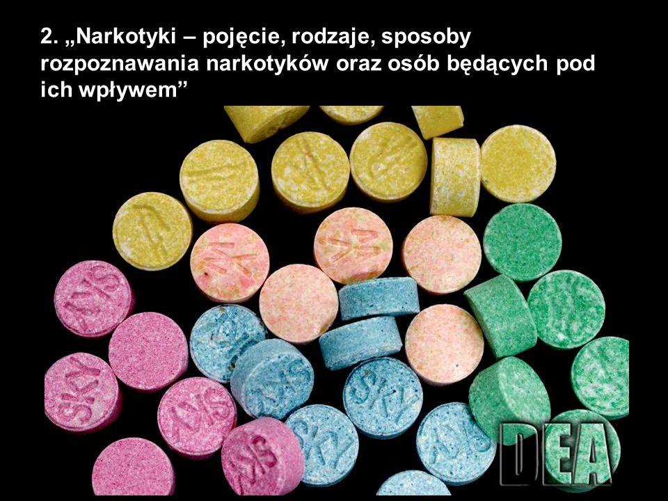 2. Narkotyki – pojęcie, rodzaje, sposoby rozpoznawania narkotyków oraz osób będących pod ich wpływem