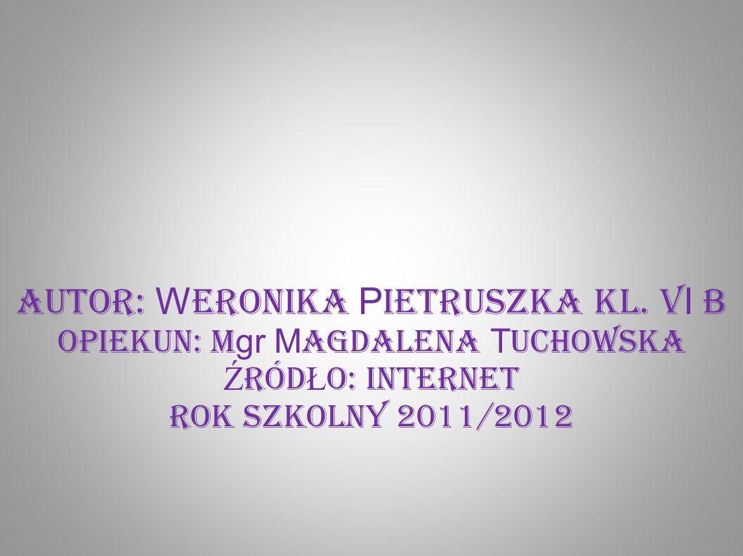 Autor: W eronika P ietruszka kl. V I B opiekun: m gr M agdalena T uchowska Ź RÓD Ł O: INTERNET Rok szkolny 2011/2012