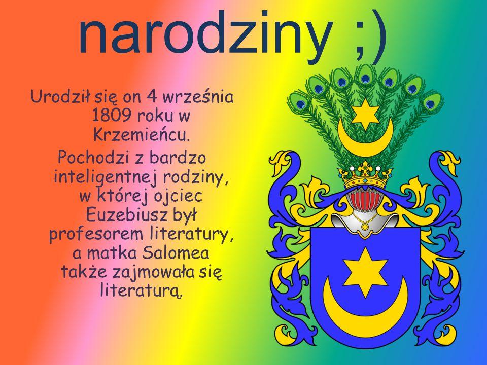 młodość Słowackiego.