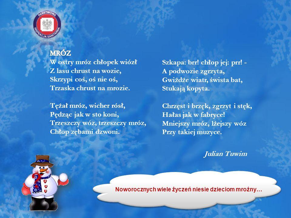 Przebywaj na świeżym powietrzu W czasie zimowych zabaw ważne jest odpowiednie, ciepłe, nieprzemakalne ubranie.