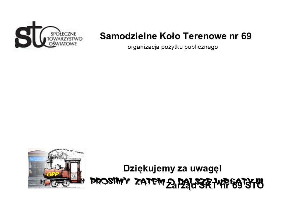 Samodzielne Koło Terenowe nr 69 organizacja pożytku publicznego Dziękujemy za uwagę.